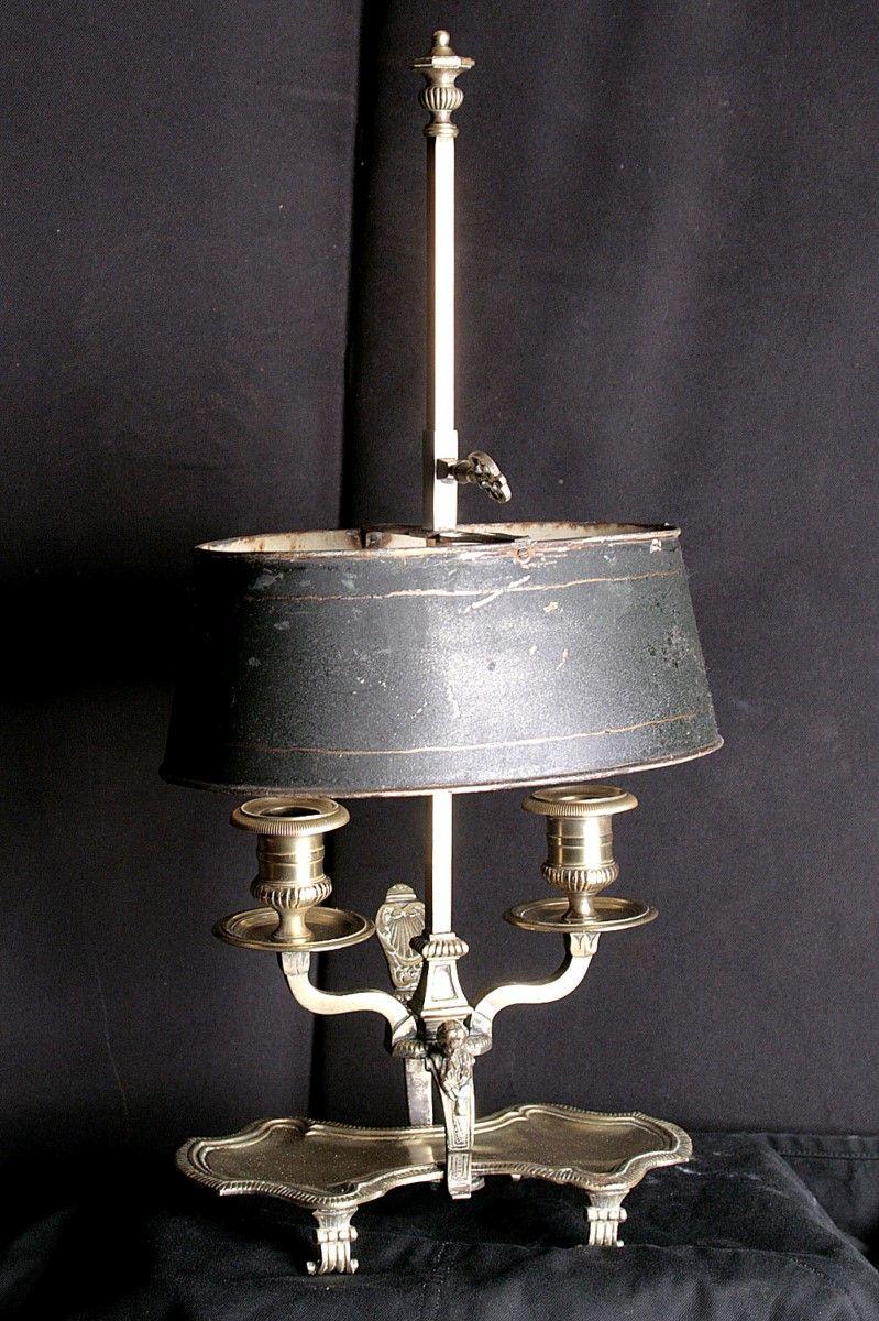 Black Tole Bouillotte Lamp