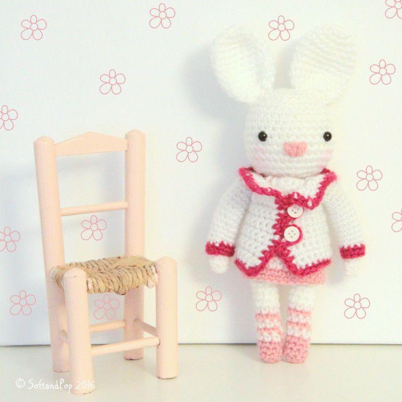 Crochet Amigurumi Lapinette Petite Plume by SoftandPop