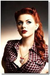 Pin Up hairstyles I really like this one if I ever get to attend an event where  Pin Up hairstyles I really like this one if I ever get to attend an event where I can wea...