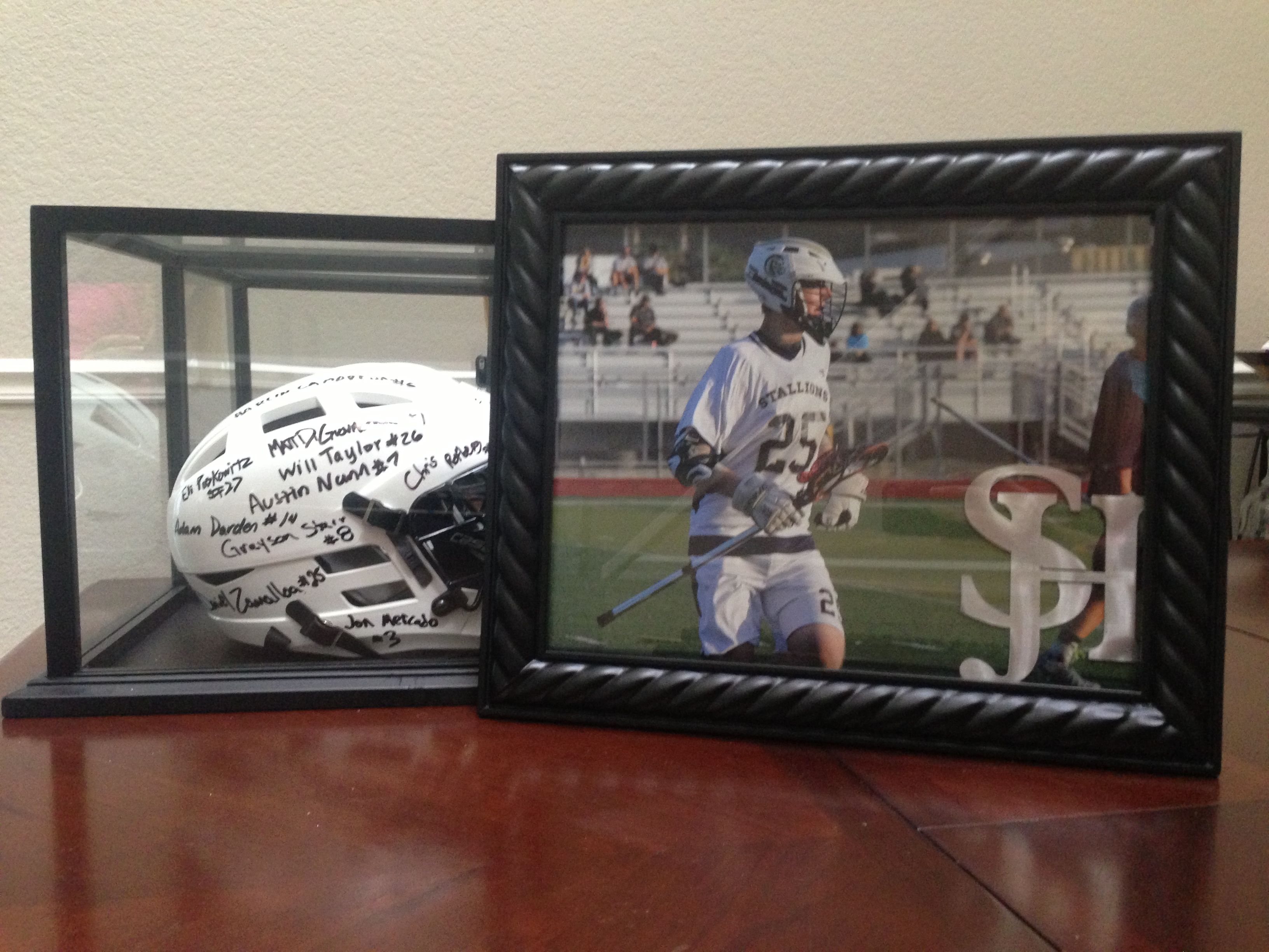senior athlete gifts honoring seniors with an action photo framed