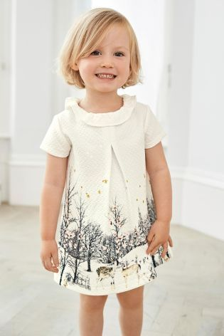 866265383f2b Buy Grey Deer Scene Dress (3mths-6yrs) online today at Next  United ...