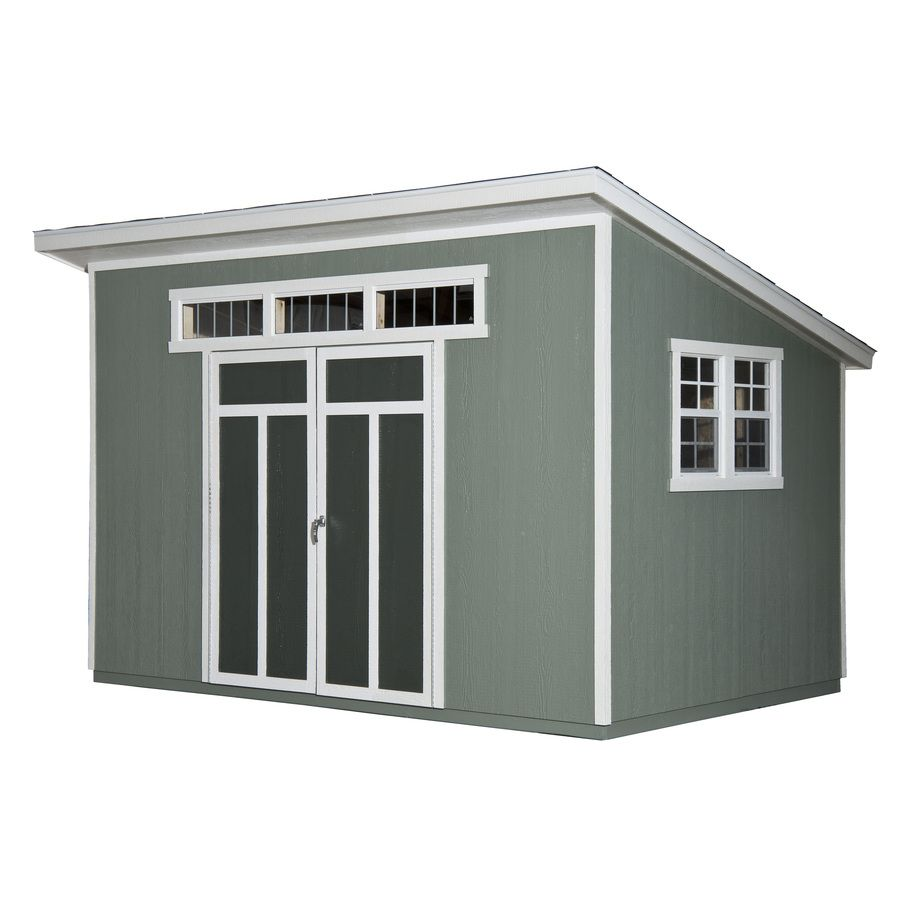 Shop heartland metropolitan lean to engineered wood for Storage building designs