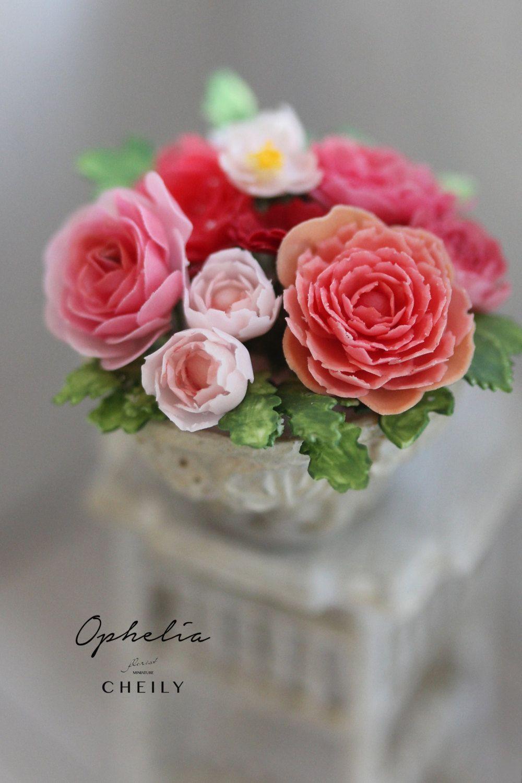 Dollhouse miniature flowers- Ophelia by CheilysMiniature on Etsy