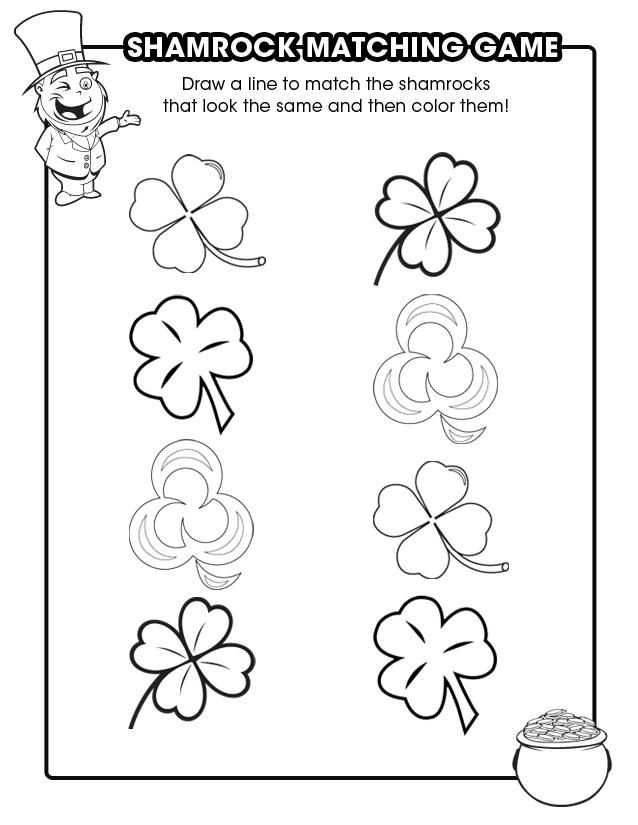 Keep Kids Busy With 51 Printable Games And Activities St Patrick Day Activities St Patrick St Patricks Day