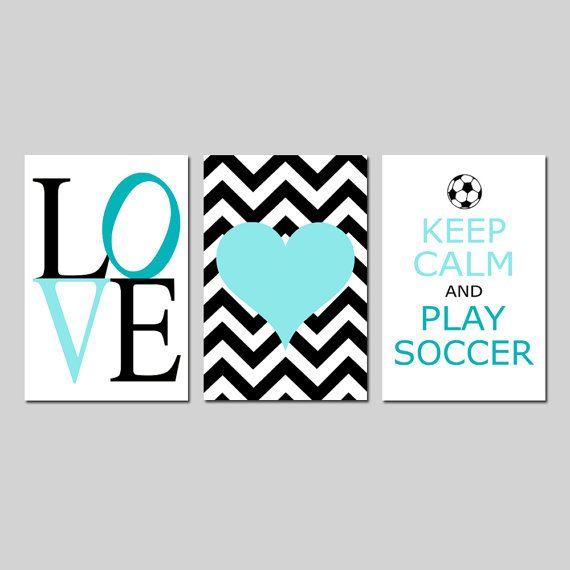 Soccer Decor for Girls Bedroom Decor Soccer Wall Art for Girl Set of ...