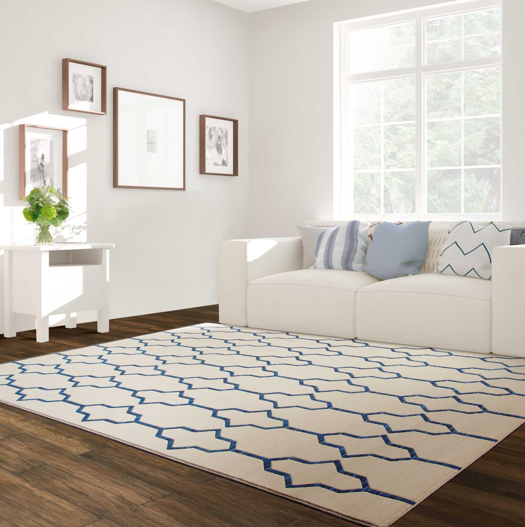 Butera Collection Bb205 Ivory Navy Butera Collection Barclay Butera Brands Products Rugs Living Spaces Rug Design
