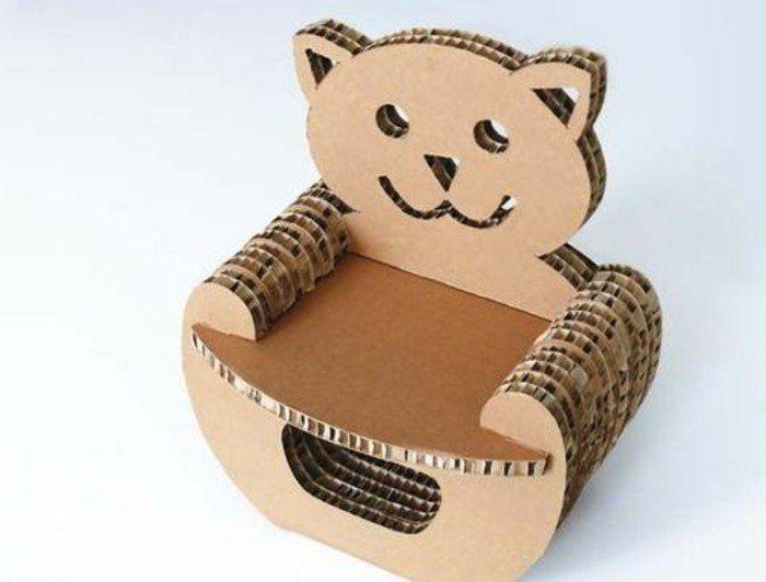 Meuble En Carton 60 Idees Que Vous Pouvez Realiser Vous Memes Meuble En Carton Chaise En Carton Fauteuil En Carton