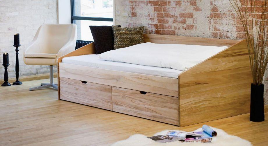 Scha Nes Einzelbett Aus Buche In 90x200 Cm Bett Da Nemark Einzelbett Bett Mit Bettkasten Kojenbett