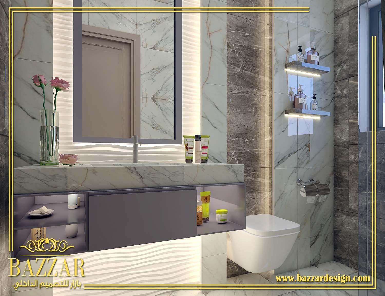 تصميم حمامات بازار للتصميم الداخلي و الديكور Framed Bathroom Mirror Bathroom Mirror Home Decor
