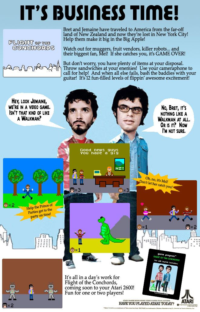 Flight Of The Conchords For The Atari 2600