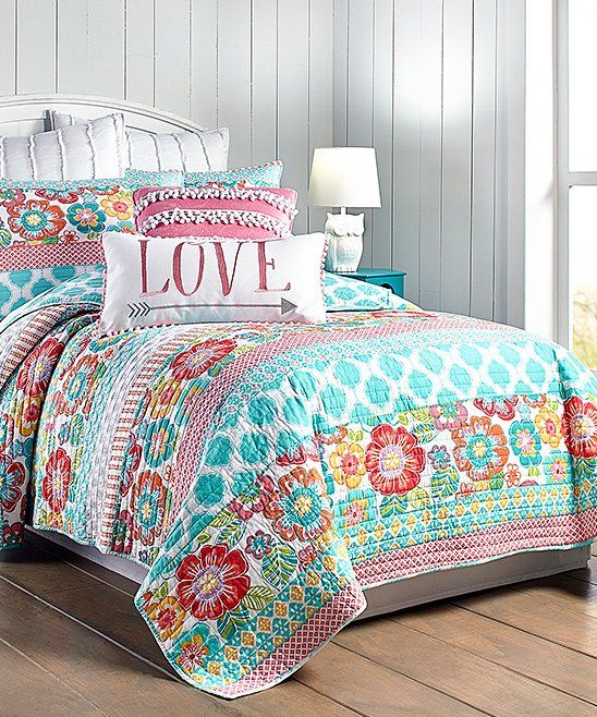 Take a look at this Blue & Pink Jordan Quilt Set today