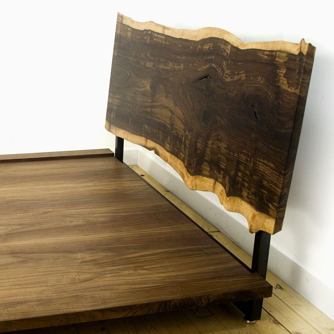 Live Edge Bed ROOM Live edge bed, Wood slab