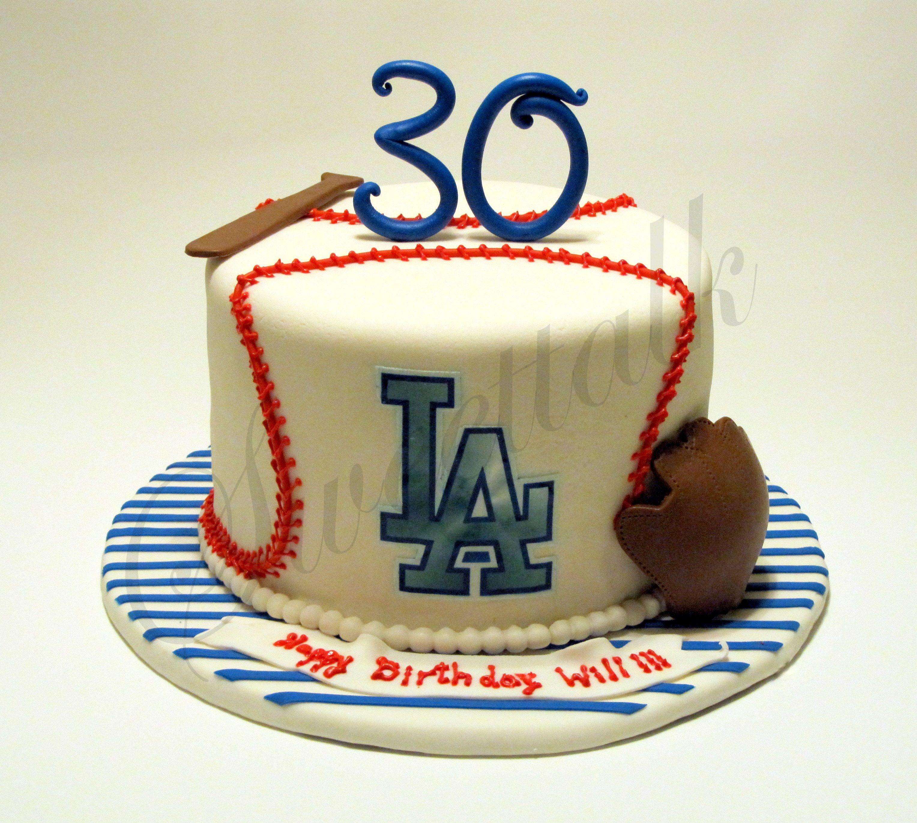 LA Dodgers Baseball cake Los Angeles Dodgers Baseball cake