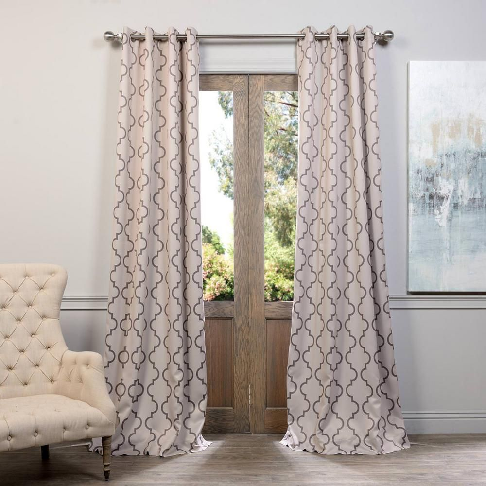 Exclusive Fabrics Furnishings Semi Opaque Seville Tan Grommet Blackout Curtain 50 In W X 108 In L P Colorful Curtains Half Price Drapes Vintage Curtains