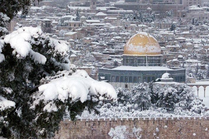 صور تساقط الثلوج في فلسطين 2016 صور تراكمات الثلج في فلسطين 2017 مناظر روعه للثلو منتديات ودي شبكة ع Dome Of The Rock Places To Travel Beautiful Places