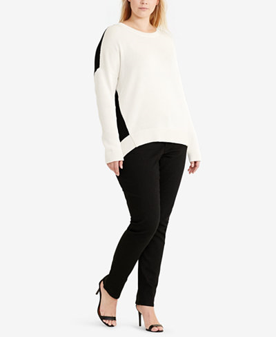 65.99$  Buy now - http://vimsp.justgood.pw/vig/item.php?t=5snvonw20675 - Plus Size Long-Sleeve Crew-Neck Sweater