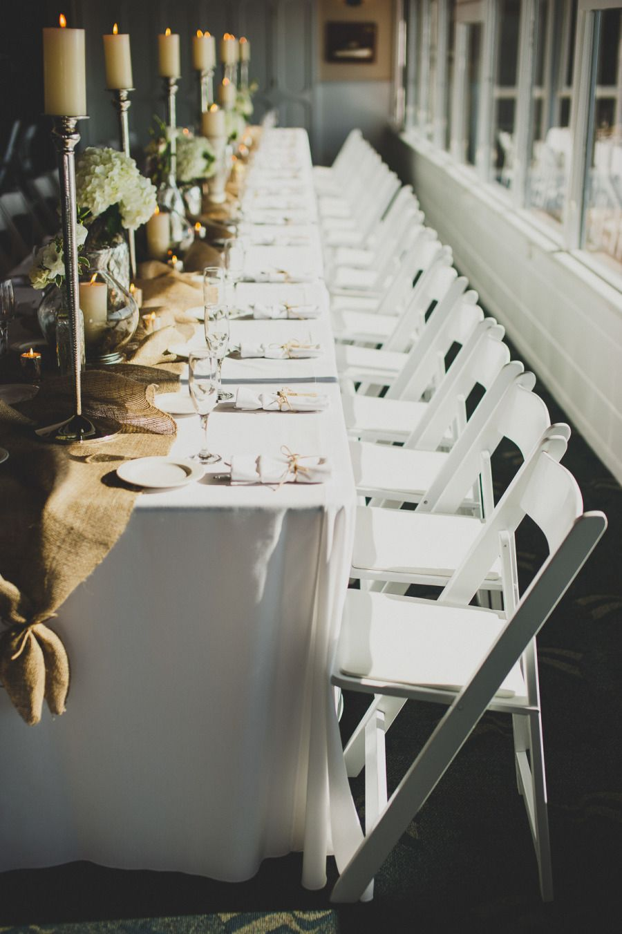 Yacht wedding decoration ideas  Shabby Chic Balboa Yacht Club Wedding  Wedding burlap Burlap