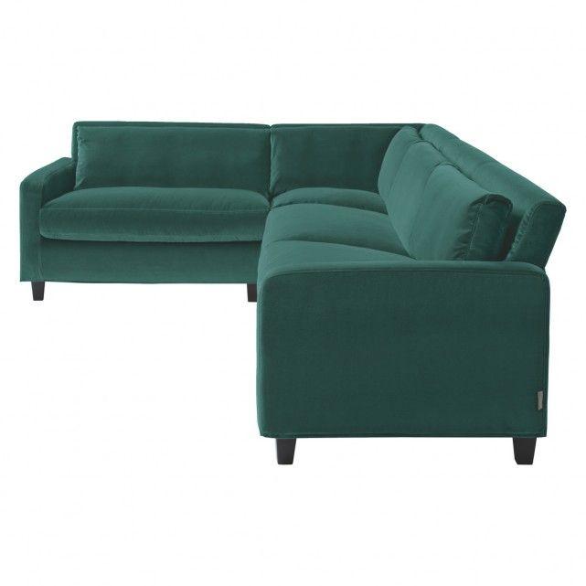 Chester Emerald Green Velvet Right Arm Corner Sofa Dark Feet Green Corner Sofas Corner Sofa Corner Sofa Living Room