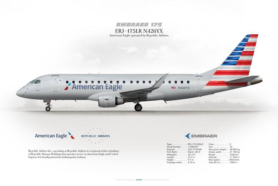 Embraer ERJ-175 American Eagle N426YX #embraer #ERJ