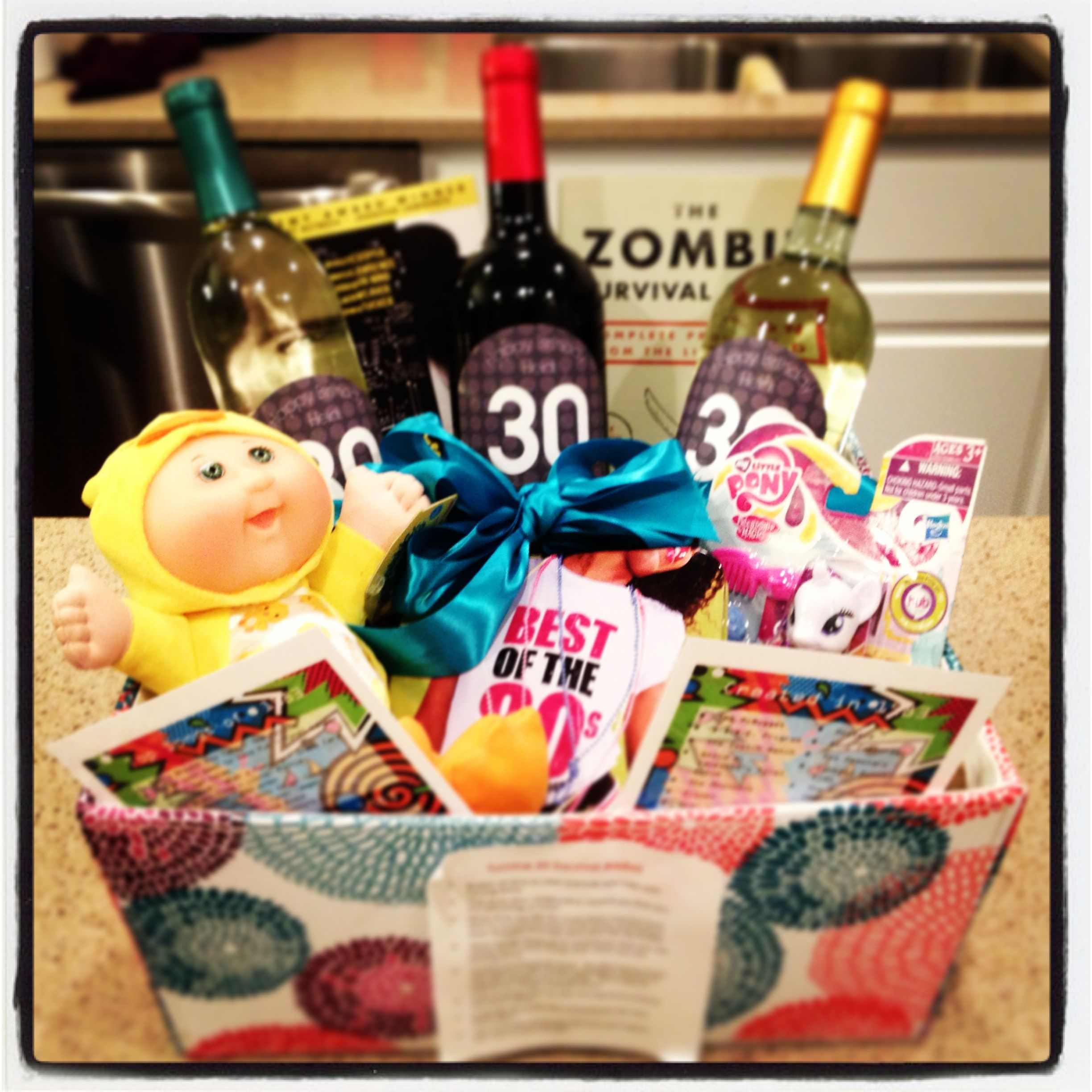 Turning 30 Birthday Basket: 30th Birthday Survival Basket