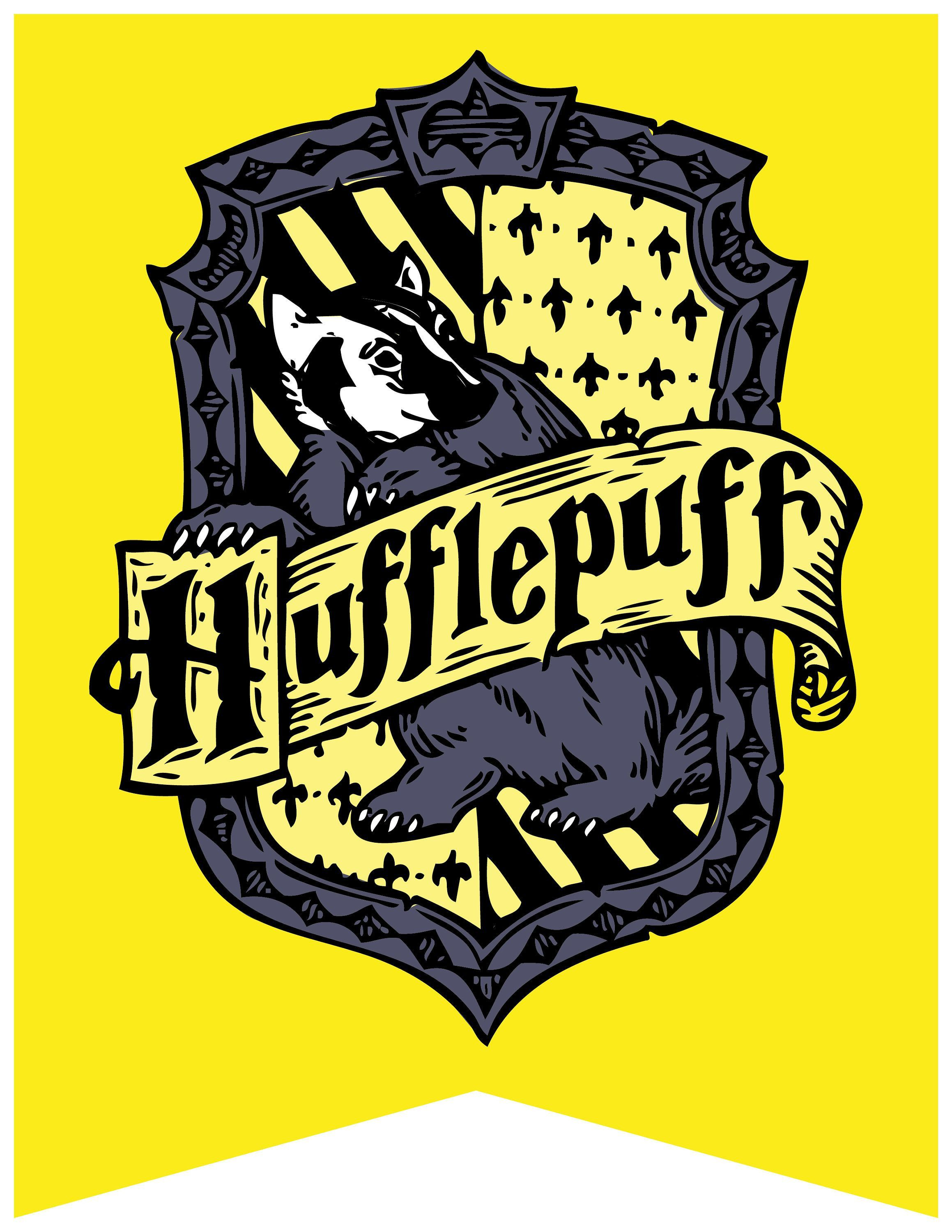 Harry Potter Printable Hogwarts House Crest Banners HP