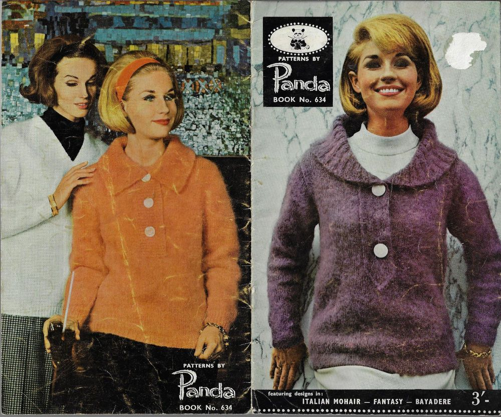 Women\'s 1960s Styles Panda 634 vintage knitting pattern winter ...
