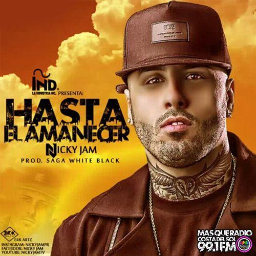 Nicky Jam – Hasta el Amanecer (single cover art)