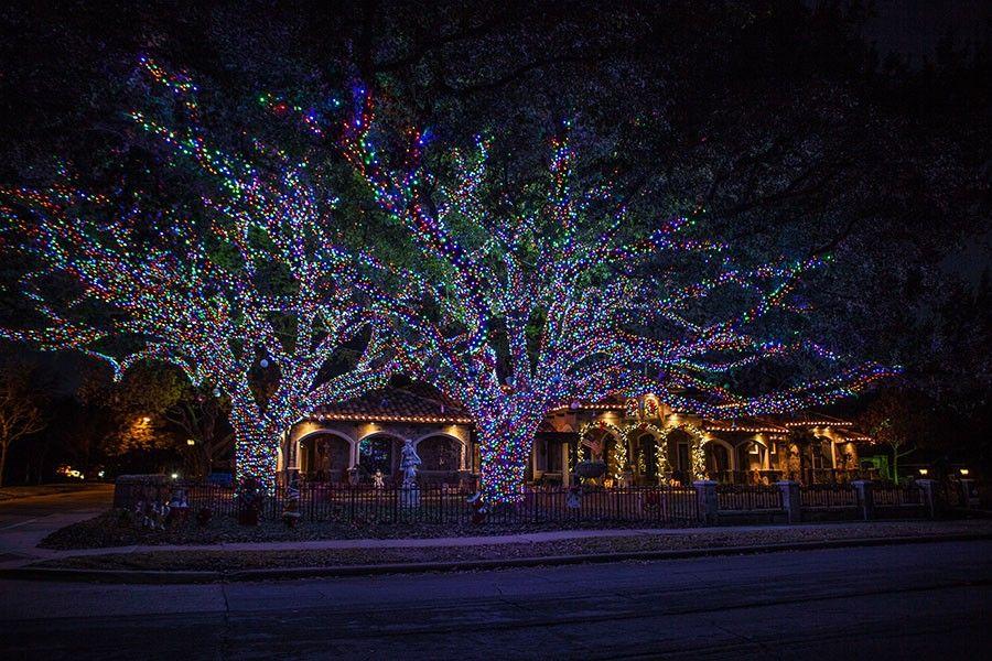 Christmas Lighting Tree Wrap Wide Multi Color (