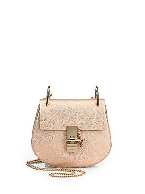 Chloé Drew Metallic Shoulder Bag Color:Rose Gold $1695.00 | wish ...