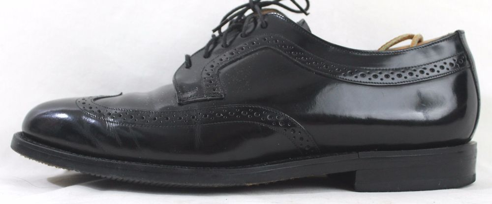 152451 NS PF50 Men/'s Shoes Size 9 M Black Wing Tip Shoes Johnston /& Murphy