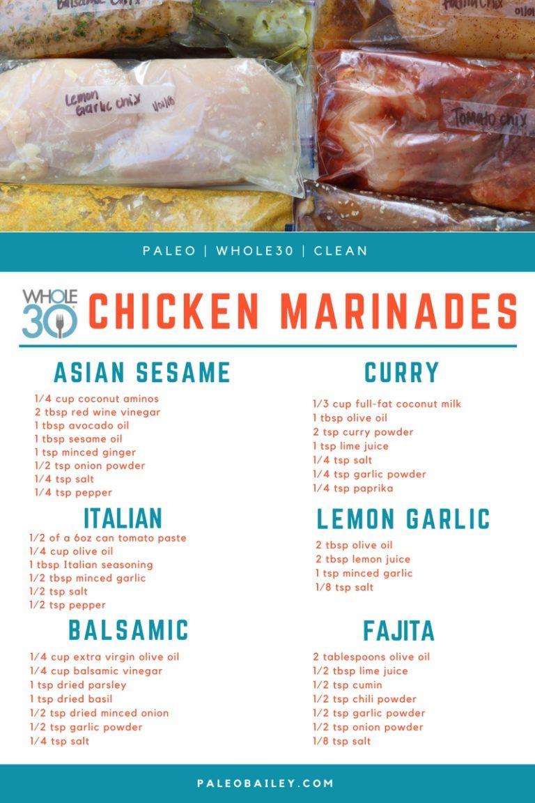 6 Whole30 Compliant DIY Freezer Chicken Marinades