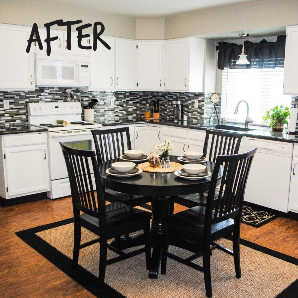 Black Paint For Kitchen Cabinets: How To Paint Your Cabinets White. After Kitchen. DIY Paint