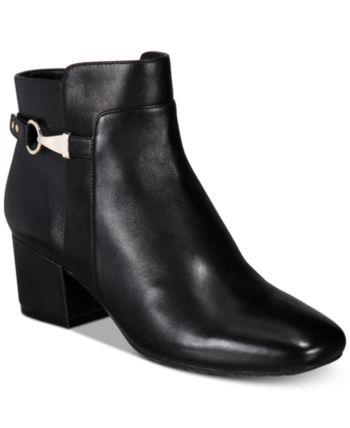 7900a798ac8a Bandolino Faruka Block Heel Zip Booties - Black 7.5M