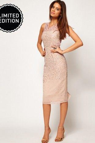 ASOS – Midi-Kleid mit Aussparungen und Verzierungen | Glamuröse ...
