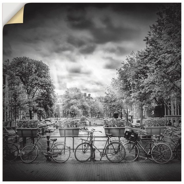 Premium Wandfolie »Melanie Viola: AMSTERDAM Herengracht, Monochrom« #naturallandmarks