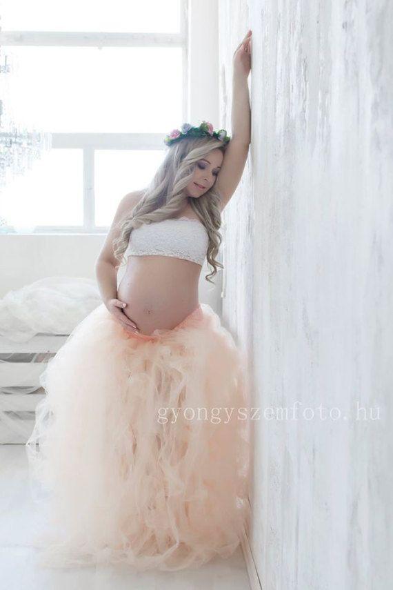 Full length tulle skirt, maternity skirt, photo prop ,adult tutu ...