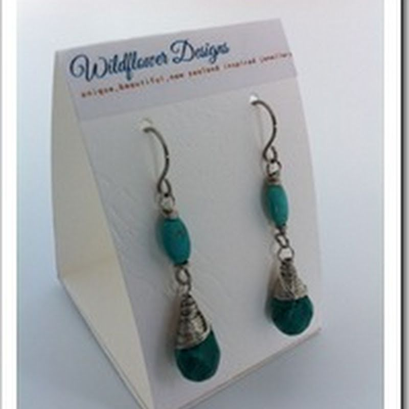 Wildflower Designs: How to Make Earring Card Displays and Ring ...