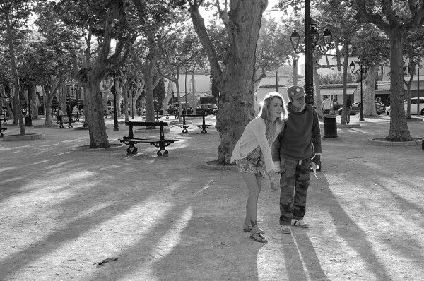 playing Boules in the square in #St-Tropez