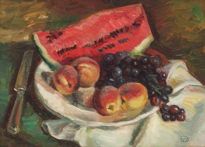 Ecaterina Cristescu-Delighioz, Natură statică cu fructe