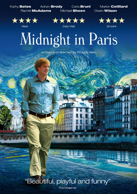 movie midnight in paris midnight in paris woody allen 2011 like a grown up fairytale for. Black Bedroom Furniture Sets. Home Design Ideas