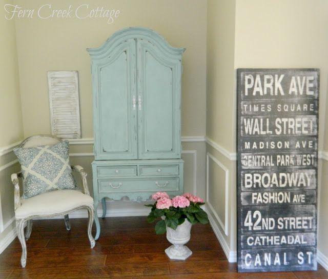 Fern Creek Cottage: My Blue Armoire