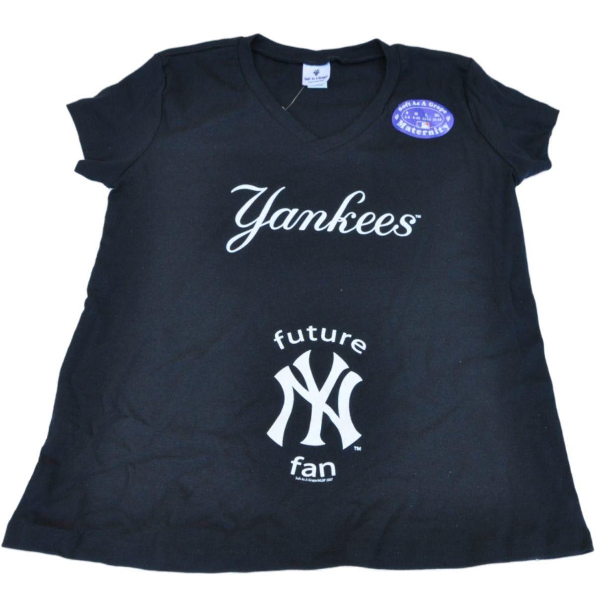 576fc7510e148 New York Yankees SAAG Women Maternity Navy Future Fan V-Neck T-Shirt ...