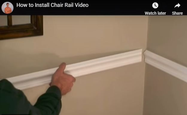 How To Install Chair Rail Chair Rail Chair Rail Molding Diy Hammock Chair