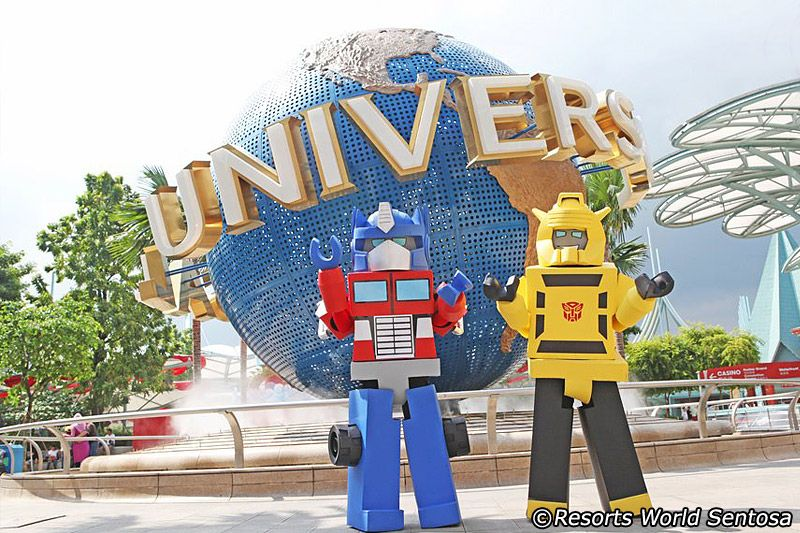 Updated Transformers characters at Universal Studios ...