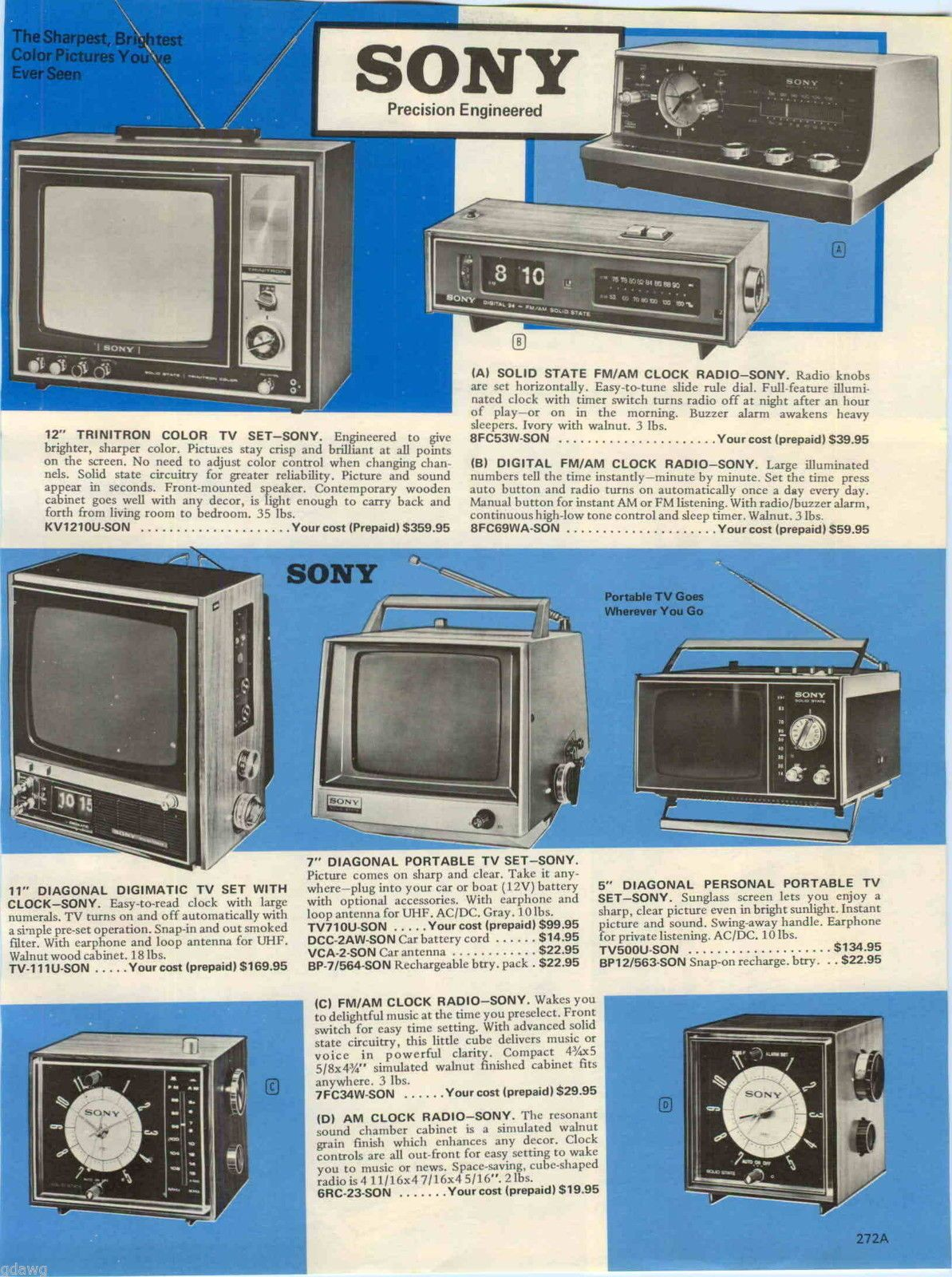 Details about 1970 AD Sony 12