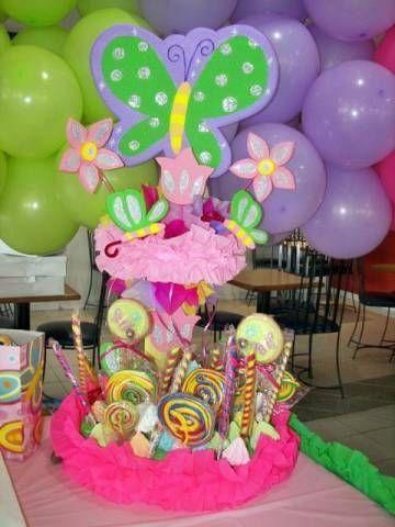 Decoraciones De Centros De Mesa Para Fiestas Infantiles Decoracion De Fiestas Infantiles Centros De Mesa Mariposas Decoracion De Fiesta