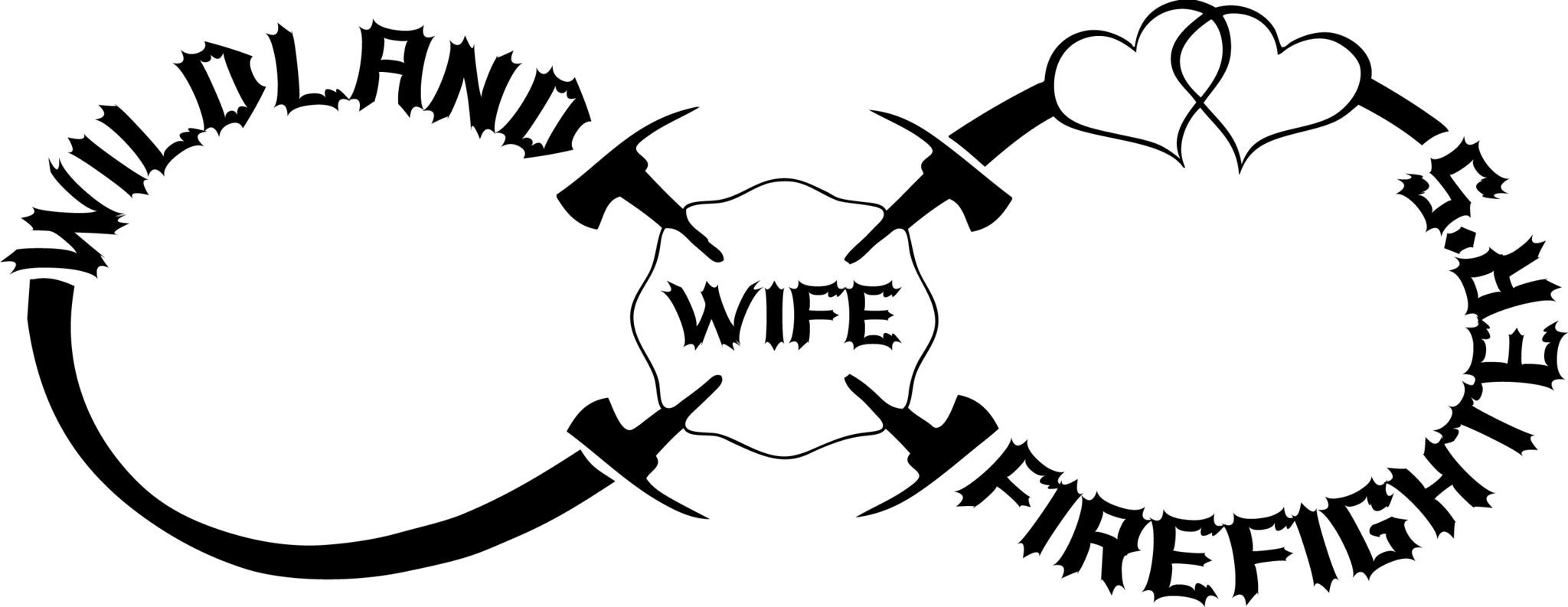 Wildland Firefighter S Wife Infinity With Hearts Decal