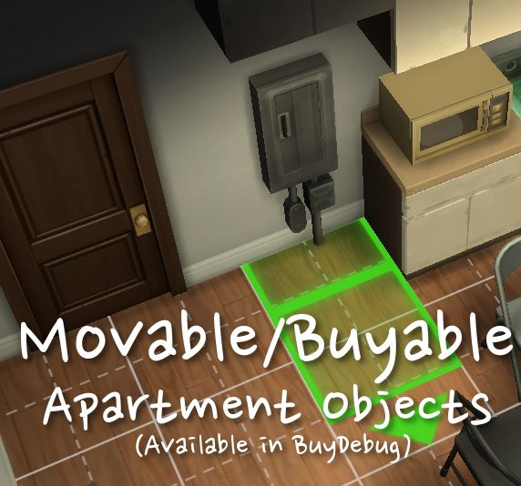 Mod The Sims Moveable Able City Living Apartment Objects By Niknak513 4 S