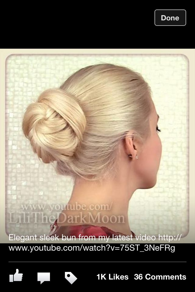 Elegant bun, Lilith Moon's Facebook page | Bridal hair ...