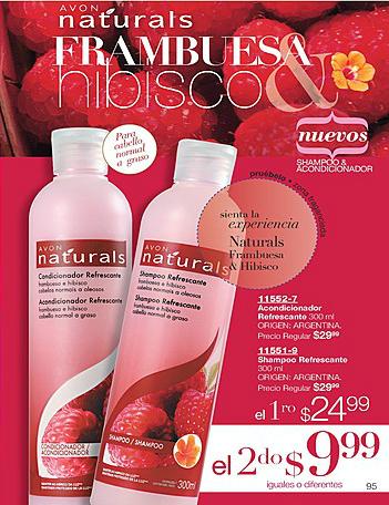 Nuevo Shampoo y Acondicionador Naturals Frambuesa & Hibisco ♥